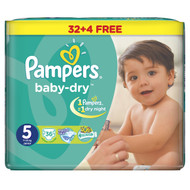 Pampers Baby-Dry Jumbo Pack Of 32 [Size 5/Junior/11-25 KG]  buy online in Pakistan