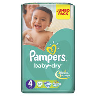 Pampers Baby-Dry Mega Pack [Size 4/Large/7-18 KG, 64 Diapers) buy online in Pakistan