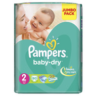 Pampers Baby-Dry Mega Pack [Size 2/Small/3-6 KG, 80 Diapers) original product