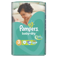 Pampers Carry Pack Small Butterfly Medium Size 3/4-9 KG/9 Diapers buy online in Pakistan