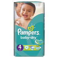 Pampers Baby-Dry Carry Pack Large Butterfly Size 4/7-18 KG/8 Diapers original product