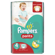 Pampers Pants Mega Pack Size 4 Maxi/9-14 KG/52 Diapers original product