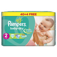 Pampers Baby-Dry Jumbo Pack Small Butterfly Size 2 Mini/3-6 KG/44 Diapers original product