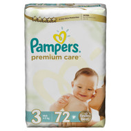 Pampers Premium Care Mega Pack [Size 3/Medium/4-9 KG, 72 Diapers) best price