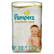 Pampers Premium Care Mega Pack [Size 4 Maxi/Large/7-18 KG, 64 Diapers] buy online in Pakistan