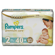 Pampers Premium Care Value Pack Small Size 2 Mini/3-6 KG/40 Diapers  buy online in Pakistan