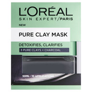 Pure Clay Charcoal Mask Detoxifying & Clarifying Black 50 ML best price
