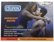 Durex Midnight Desire Extra Lubricated 3 Condoms buy online in pakistan