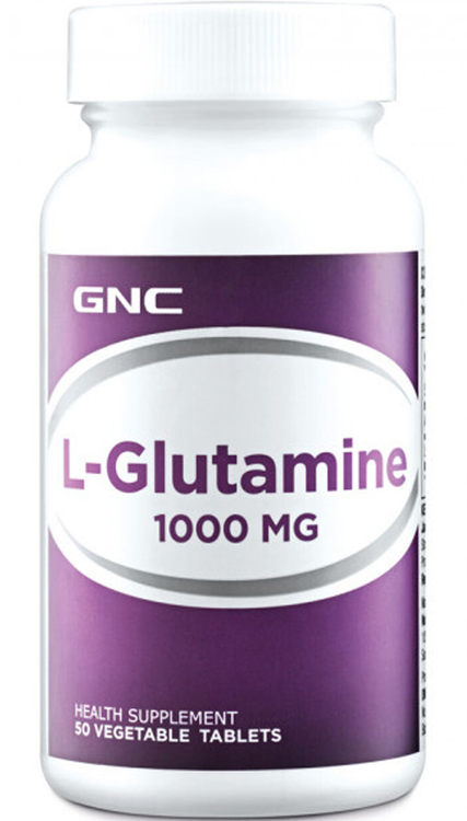 GNC L-Glutamine 1000MG Dietary Supplement 50 Tablets