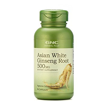 GNC Asian White Ginseng Root Cap 500MG (90 Veg Capsules) Buy online in Pakistan Best Price Original Products