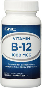 GNC Vitamin B-12 1000MCG (100 Veg Capsules) Buy online in Pakistan best price original products