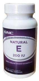 GNC Natural E 200 IU 100 Softgels Buy online in Pakistan best price original products