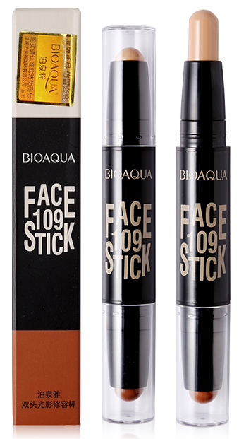 Bioaqua Face 109 Stick Duo Contour 3D Bronzer Highlighter Stick (03) buy online in pakistan original products