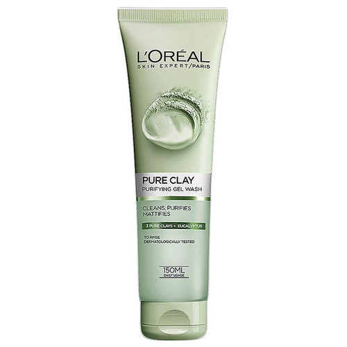 L'oreal Paris Pure Clay Eucalyptus Purifying Face Wash- Green 150ML buy online in Pakistan