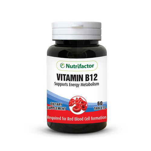 Nutrifactor Vitamin B12 Supports Energy Metabolism 60 Tablets shop online in Pakistan best price original product
