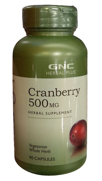 GNC Cranberry 500mg herbal supplement 90 capsules