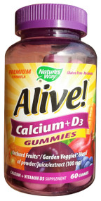 GNC Nature's Way Alive Calcium + D3 Gummies 60 Gummies   best price