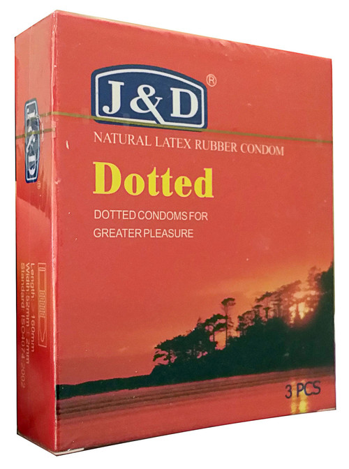 &D Dotted Natural Latex Rubber Condom 3 Pieces buy online in pakistan