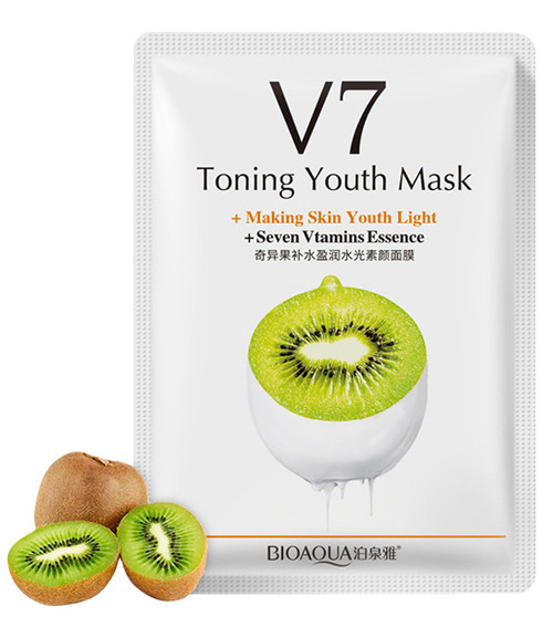 Bioaqua Toning Youth Mask V7 (Peach) shop online in Pakistan best price original product