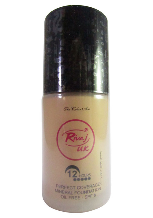 Rivaj UK Perfect Coverage Mineral Foundation Natural Ivory 30 ML
