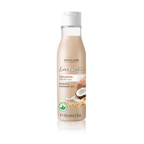 Oriflame Love Nature Shampoo For Dry Hair (Wheat & Coconut Oil) 250 ML