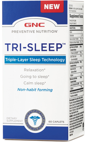 GNC Preventive Nutrition Tri-Sleep 60 Caplets buy online in pakistan original relaxation supplements