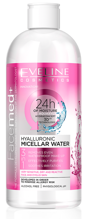 Eveline FaceMed Hyaluronic Micellar Water 400ML buy online in pakistan genuine products best price