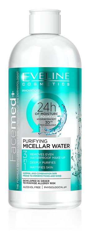 Eveline FaceMed Purifying Micellar Water 400ML buy online in pakistan original products best price makeup remover