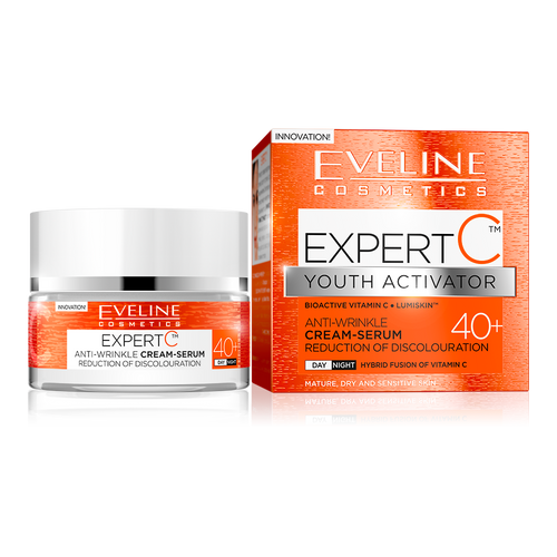 Eveline Expert C Youth Activator Cream Serum 40+ (50ML) buy online original anti ageing products in pakistan best price vitamin c