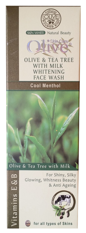 Olive Natural Olive & Tea Tree with Milk Whitening Face Wash 120g buy online in pakistan