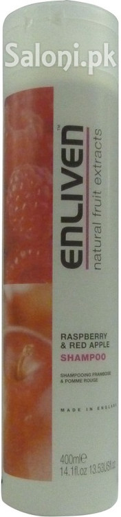 Enliven Natural Fruit Extracts Raspberry & Red Apple Shampoo Front