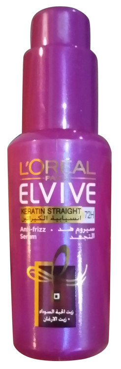 L'Oreal Paris Elvive Keratin Straight 72H Serum 50ml buy online best hair serum in pakistan