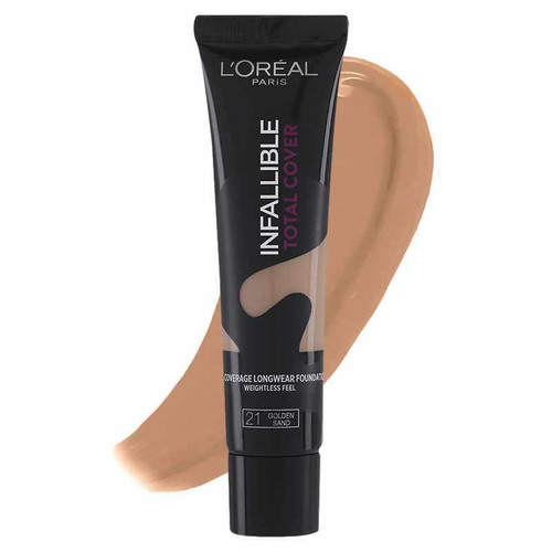 L'Oreal Paris Infallible Total Cover Foundation 21 Golden Sand buy best natural foundation in pakistan