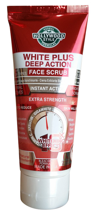Holly Wood Style White Plus Deep Action Face Scrub 100ml Buy online in pakistan