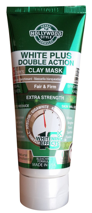 Holly Wood Style White Plus Double Action Clay Mask 100ml Buy online in Pakistan
