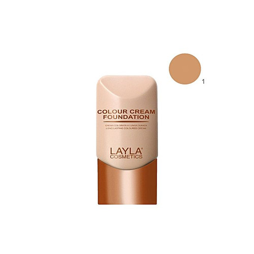 Layla Cosmetics Color Cream Foundation Natural Tan N1 Buy online in Pakistan