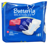Butterfly Breathables Maxi Thick Large Sanitary Napkins buy online in pakistan on saloni.pk