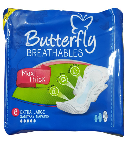Butterfly Breathables Maxi Thick Extra Large Sanitary Napkins buy online in pakistan on saloni.pk