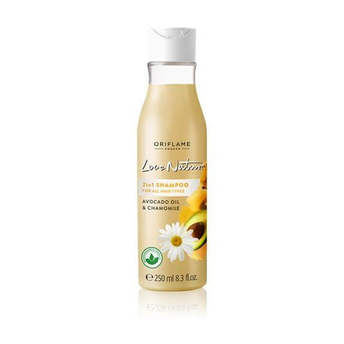 Oriflame Love Nature 2in1 Shampoo For All Hair Types Avocado Oil & Chamomile 250 ML buy online in pakistan