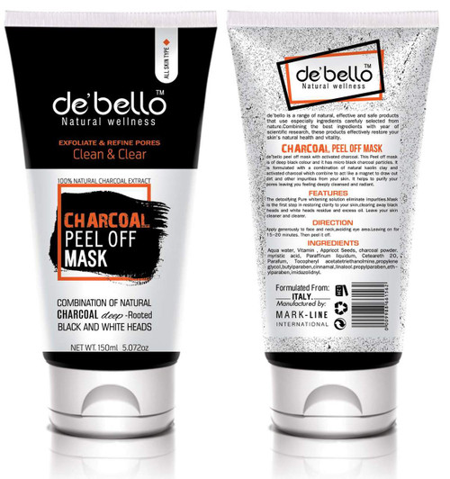 De'Bello Charcoal Peel Off Mask 150 ML buy online in pakistan