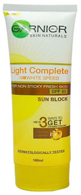 Garnier Light Complete White Speed SPF 60 Sun Block 100 ML buy online in pakistan