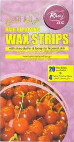 Rivaj UK Hair Removing Wax Strips With Shea Butter & Berry For Normal Skin buy online in pakistan