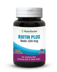 Nutrifactor Biotin Plus 2500mcg 60 Tablets buy online in pakistan best price original products supplement vitamins