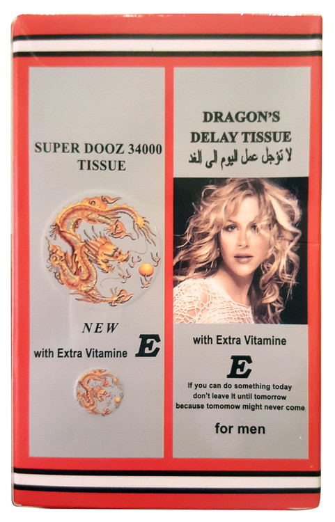 Dragon's Dooz 34000 Delay Tissue 4 Pieces buy online in apkistan