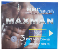Maxman 3 Condoms + 3 Delay Gels buy online in pakistan