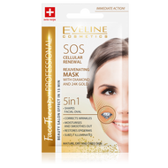 Eveline Rejuvenating Mask With Diamond and 24K Gold 7 ML