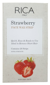 Rica Brazilian Face Wax Strip Strawberry 20 Pieces buy online in pakistan