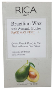 Rica Brazilian Face Wax Strip Avocado Butter 20 Strips buy online in pakistan