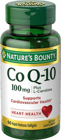 Nature's Bounty Co Q-10 100mg Plus L-Carnitine 60 Softgels