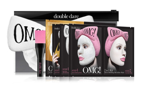 DOUBLE DARE - OMG! Premium Package White (4MASK, 1HAIR BAND, 1 BRUSH) buy online in pakistan